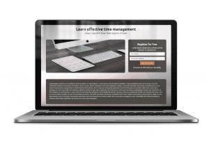 WP WebinarSystem frontend registration page macbook