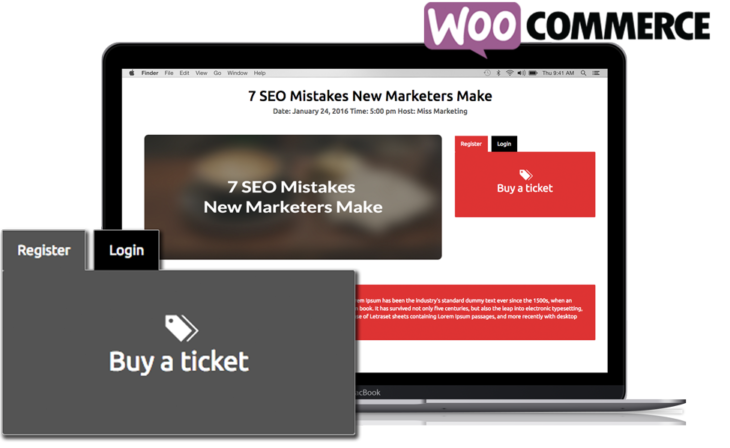 WordPress Webinar plugin paid WooCommerce