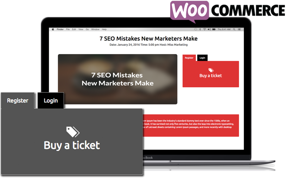 WordPress Webinar plugin paid WooCommerce