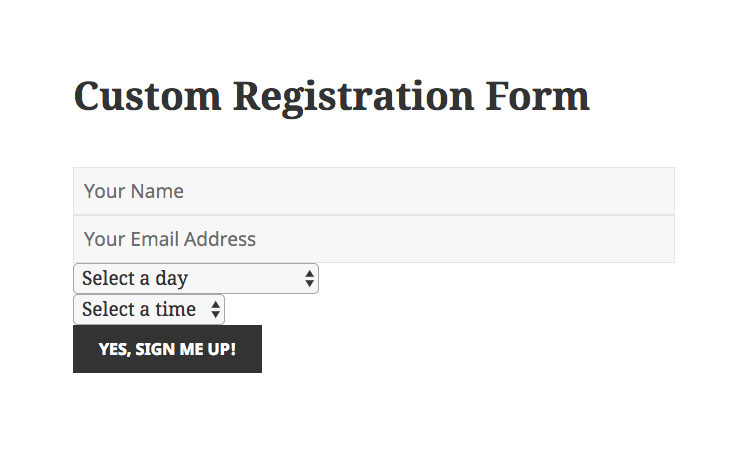 Tutorial how to style your custom registration forms wp webinarsystem to adjust the style of the output you can add custom css in the stylesheet styles file of your theme or in any other custom css field your theme malvernweather Gallery