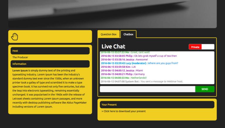 Webinar live chat